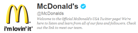 Compte Twitter McDonald's_blog ereputation de QSN-DigiTal