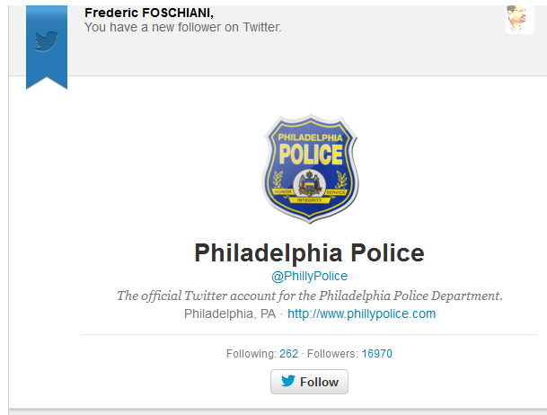 Preuve d'engagement de la Police de Philadelphie sur Twitter (2)