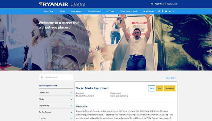 Fail de Ryanair sur les reseaux sociaux