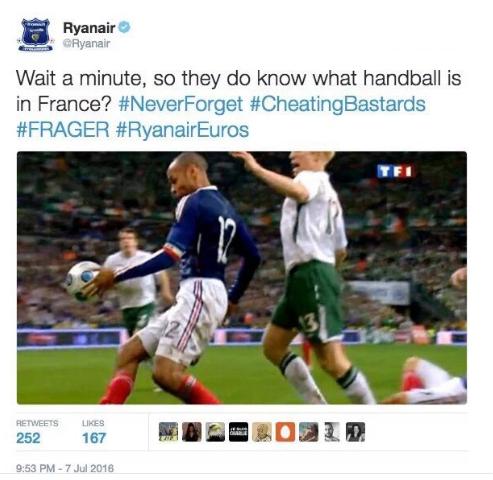 Ryanair insulte la France et les Français
